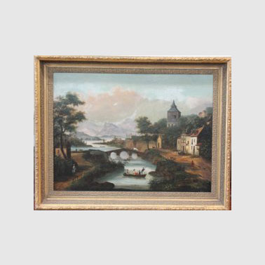 WP 73 CONTINENTAL SCHOOL 19TH C OIL PAINTING