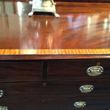 CP38 SATINWOOD BANDED GEORGIAN CHEST