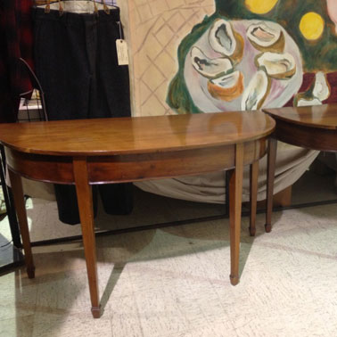DT8 PAIR DEMILUNE TABLES